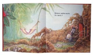WOOD, Audrey et WOOD, Don, La petite souris, la belle fraise bien mûre, et le gros ours affamé, BIAS Editions, 1988, double page 1-2