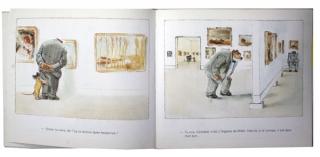 VINCENT, Gabrielle,  Ernest et Célestine au musée, Paris, Editions Duculot, 1985, double page 9-10.