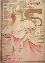 """Affiche d'un Café Concert """"La Scala"""""""
